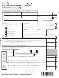 "Form 40 ""Idaho Individual Income Tax Return"" - Idaho, 2017"