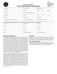 Form M-1099-K 2017 Third Party Network Transactions - Massachusetts