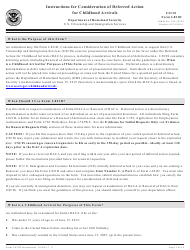 Instructions for USCIS Form I-821d - Consideration of Deferred Action for Childhood Arrivals