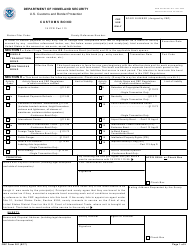 "CBP Form 301 ""Customs Bond"""