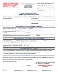"Form MT-07 ""Initial Oil Exemption Request (Minimum Production or Water Flood)"" - Kansas"