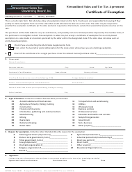 "Form F0003 ""Certificate of Exemption"""