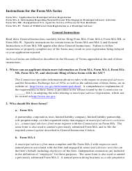 Instructions for SEC Form MA, MA-I, MA-NR, MA-W