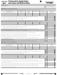 Form 100S 2017 Schedule D - S Corporation Capital Gains and Losses and Built-In Gains - California