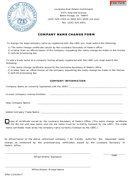 """Company Name Change Form"" - Louisiana"