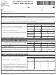 Form 500C 2017 Underpayment of Virginia Estimated Tax by Corporations - Virginia