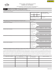 "Form N-848 ""Power of Attorney"" - Hawaii"