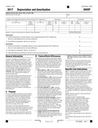 Form FTB 3885F 2017 Depreciation and Amortization - California