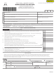 Form M-6 Hawaii Estate Tax Return - Hawaii
