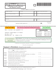 Form IN-114 2018 Individual Income Estimated Tax Payment Voucher - Vermont