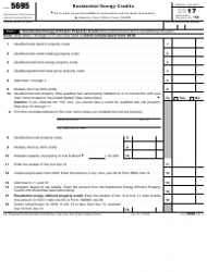 IRS Form 5695 2017 Residential Energy Credits