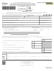 Form N-288C 2018 Application for Tentative Refund of Withholding on Dispositions by Nonresident Persons of Hawaii Real Property Interests - Hawaii