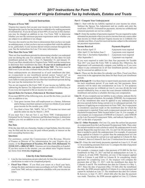 Form 760C 2017 Printable Pdf