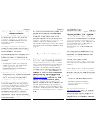 Form SSA-3105 Request Waiver or Reconsideration