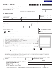 "Form OR-LTD ""Lane County Mass Transit District Self-employment Tax"" - Oregon, 2017"