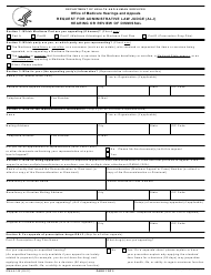 "Form OMHA-100 ""Request for Administrative Law Judge (Alj) Hearing or Review of Dismissal"""