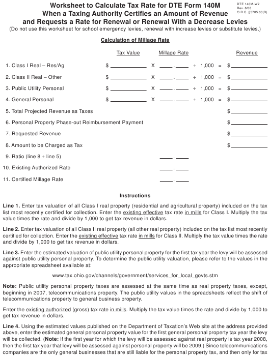 picture regarding W2 Forms Printable referred to as Kind DTE 140M-W2 Down load Printable PDF, Worksheet for