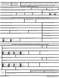 GSA Form SF-91 Motor Vehicle Accident Report
