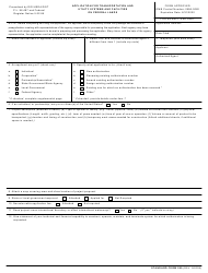 "GSA Form SF-299 ""Application for Transportation and Utility Systems and Facilities on Federal Lands"""