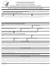 "Form HHS-720 ""Request for Copy of Record(S) - Third-Party With the Individual Appellant's Consent"""