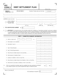 FEC Form 8 Debt Settlement Plan