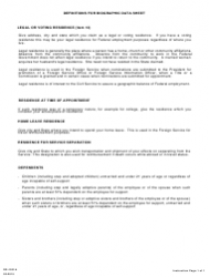 Form DS-1031A Biographic Data Sheet