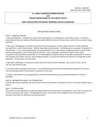 SBA EIB-SBA Form 84-1  Fillable Pdf