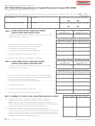 Form MI-1040D 2017 Michigan Adjustments Of Capital Gains And Losses - Michigan