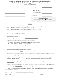 "Form PV-AD-1 ""Annual Claim for Exemption From Property Taxation"" - Kansas"