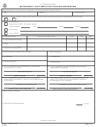 "Form DS-298 ""Interagency Post Employee Position Description"""