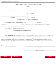 Form AO 94 Commitment to Another District