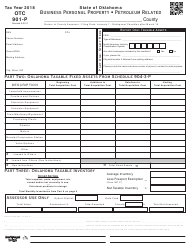 Form OTC 901-P 2018 Business Personal Property - Petroleum Related - Oklahoma