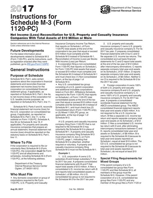 IRS Form 1120-PC 2017 Printable Pdf