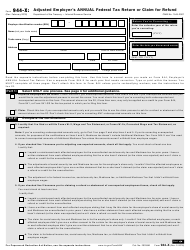 IRS Form 944-x Adjusted Employer's Annual Federal Tax Return or Claim for Refund