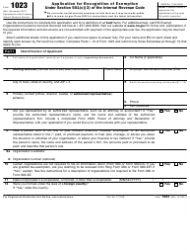 IRS Form 1023 Application for Recognition of Exemption