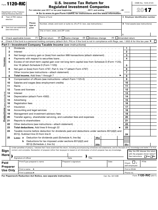 Irs Form Eib Sba 1120 Ric Download Fillable Pdf 2017 Us Income