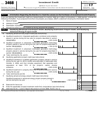 IRS Form 3468 2017 Investment Credit