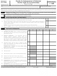 IRS Form 8804 2017 Schedule a - Penalty for Underpayment of Estimated Section 1446 Tax by Partnerships