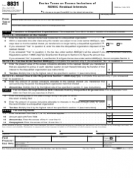 IRS Form 8831 Excise Taxes on Excess Inclusions of Remic Residual Interests