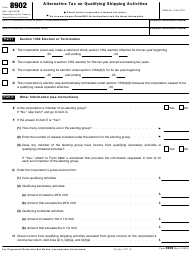IRS Form 8902 Alternative Tax on Qualifying Shipping Activities
