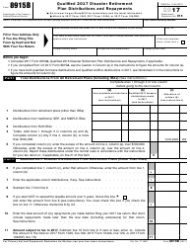 IRS Form 8915B 2017 Qualified 2017 Disaster Retirement Plan Distributions and Repayments