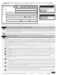 "IRS Form CT-1 X ""Adjusted Employer's Annual Railroad Retirement Tax Return or Claim for Refund"""