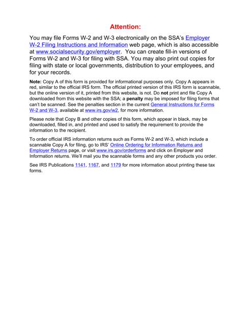 IRS Form W-2 2018 Printable Pdf