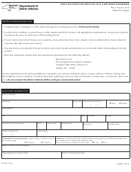 Form DS-876 Application for Article 19-a Certified Examiner - New York
