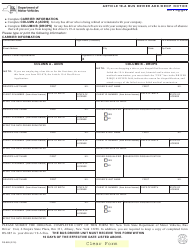 Form DS-885 Article 19-a Bus Driver Add/Drop Notic - New York