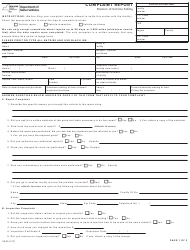 Form VS-35 Complaint Report - New York
