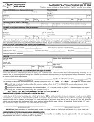"Form MV-901B ""Garageman's Affirmation and Bill of Sale"" - New York"