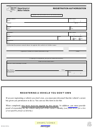 "Form MV-95 ""Registration Authorization"" - New York"