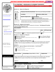 Form OSPS.9904 W-2 Reprint/Reissued Statement Request - Oregon