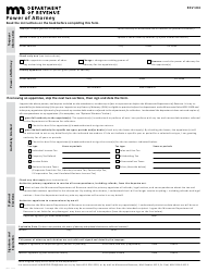 "Form REV184 ""Power of Attorney"" - Minnesota"